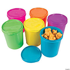 Neon Round Containers with Lids