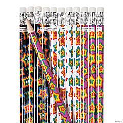 Neon Star Pencils