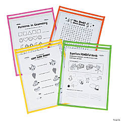 Neon Top-Loading Dry Erase Pockets