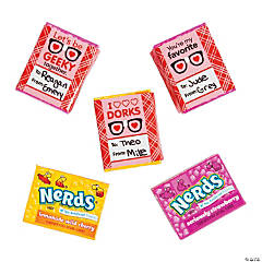 Nerds® Valentine Geek Exchange Stickers
