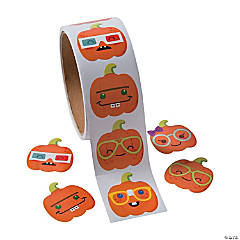 Nerdy Pumpkin Stickers