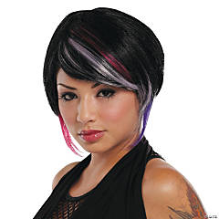 New Rave Wig Black Lavender