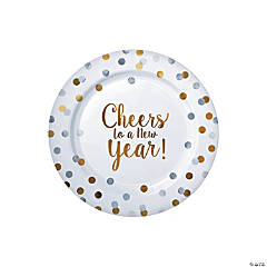 New Year Dot Paper Dessert Plates