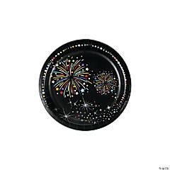 New Year's Sparkle Paper Dessert Plates
