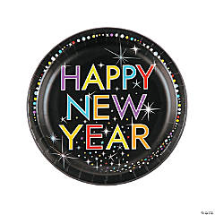 New Year Starburst Paper Dinner Plates