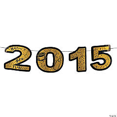 2015 New Year's Gold Glitter Banner