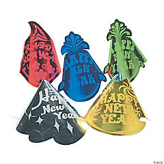 New Year's Cone Hats Assortment