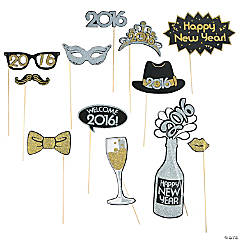 2016 New Years Photo Stick Props
