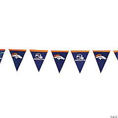NFL® Denver Broncos Plastic Pennant Banner