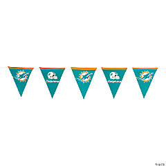 NFL® Miami Dolphins™ Plastic Pennant Banner