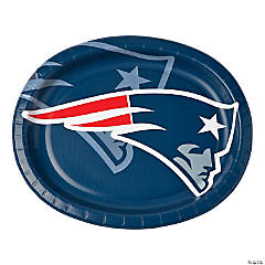 NFL® New England Patriots™ Oval Paper Dinner Plates