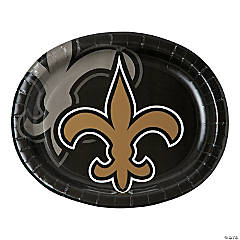 NFL® New Orleans Saints™ Oval Paper Dinner Plates