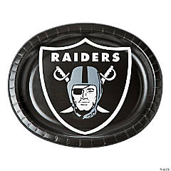NFL® Oakland Raiders™ Oval Paper Dinner Plates