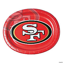 NFL® San Francisco 49ers ™ Oval Paper Dinner Plates