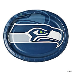 NFL® Seattle Seahawks™ Oval Paper Dinner Plates