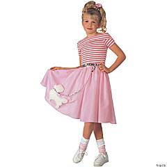 Nifty Fifties Girl's Costume