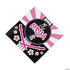 Ninja Girl Beverage Napkins