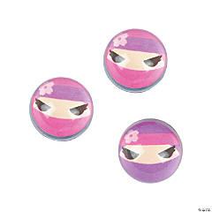 Ninja Girl Bouncing Balls
