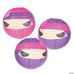 Ninja Girl Hanging Paper Lanterns
