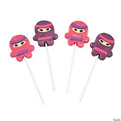 Ninja Girl Lollipops