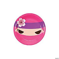 Ninja Girl Paper Dessert Plates
