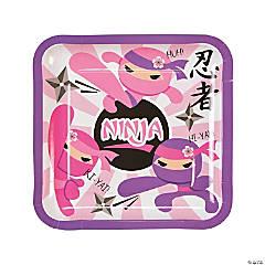 Ninja Girl Paper Dinner Plates