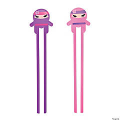 Ninja Girl Plastic Chopsticks