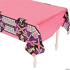 Ninja Girl Plastic Tablecloth