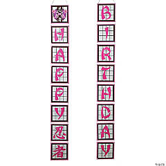 Ninja Girl Vertical Birthday Paper Banners