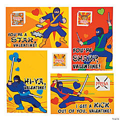 Ninja Valentine Cards with Tattoos