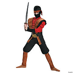 Ninja Warrior Muscle Costume for Boys