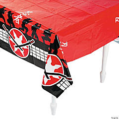 Ninja Warriors Plastic Tablecloth