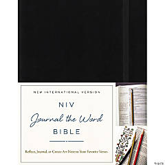 NIV Journal The Word Hardcover Bible-Blk