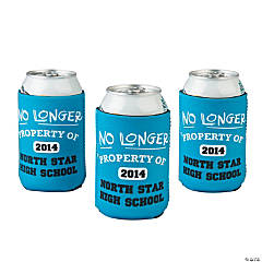 """No Longer Property of"" 2014 Graduation Personalized Can Covers"