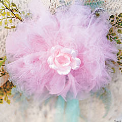 No Sew Tulle Flower Idea