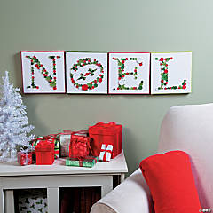 Noel Button Christmas Canvases Idea