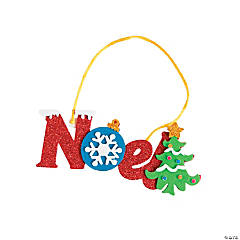 """Noel"" Christmas Ornament Craft Kit"