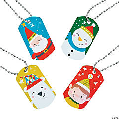 Nordic Noel Character Dog Tag Necklaces