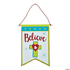 Nordic Noel Cross Banner Sign Craft Kit