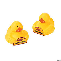 """November"" Rubber Duckies"