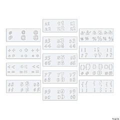 Number & Symbol Stencil Set