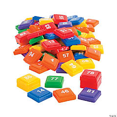 Numbered Rainbow Tiles 0 - 100