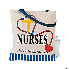 Nurses Canvas Tote Bag