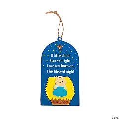 """O Little Child"" Shining Star Christmas Ornament Craft Kit"
