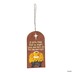 """O Little Child"" Shining Star Christmas Ornaments"