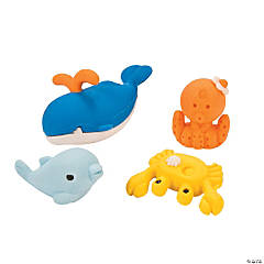 Ocean Life-Shaped Erasers