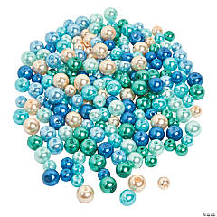 Ocean Waters Pearl Bead Assortment - 6mm-8mm