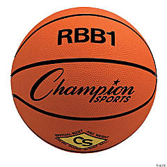 Offical Size Rubber Basketball, Orange, Set of 2
