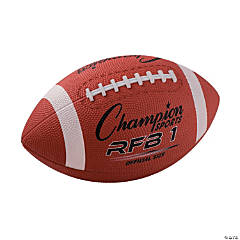 Official Size Rubber Football, Set of 2