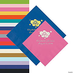 Oh Baby Personalized Napkins - Beverage or Luncheon